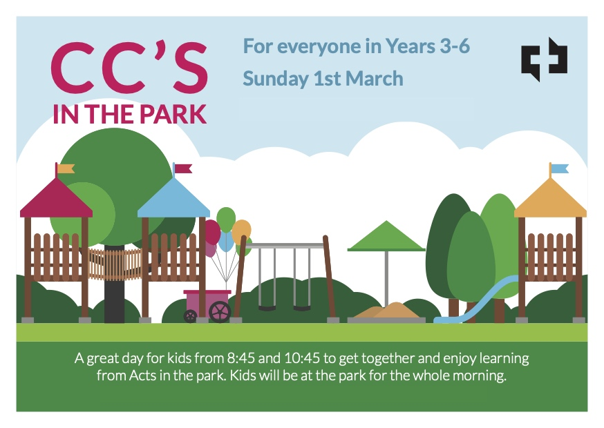 CCs in the park Flyer